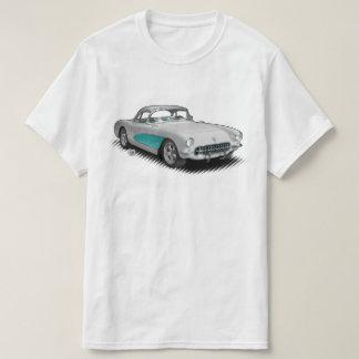 Blanco con la camiseta de la aguamarina 56-57
