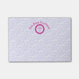 Blanco cristiano rosado caliente o brillante de la notas post-it®