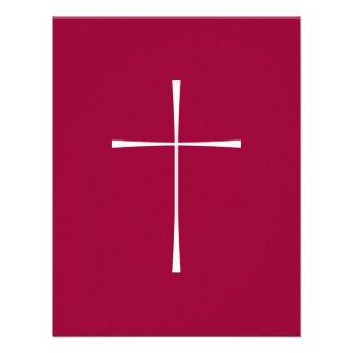 Blanco cruzado del libro de oración comunicado personalizado