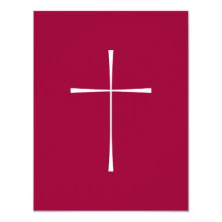 Blanco cruzado del libro de oración invitación 10,8 x 13,9 cm