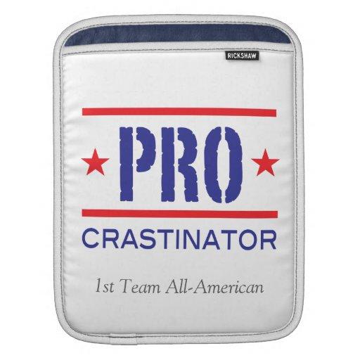 Blanco de All-American_on del equipo de PROcrastin Fundas Para iPads
