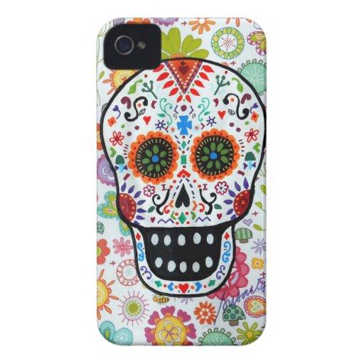 Blanco de Calavera por Prisarts Case-Mate iPhone 4 Protectores