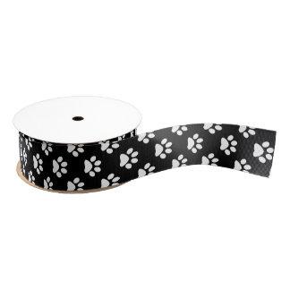Blanco de DIY en la huella del gato negro/del Lazo De Tela Gruesa