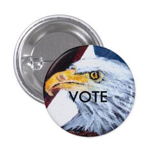 Blanco de Eagle del botón del voto y azul rojos