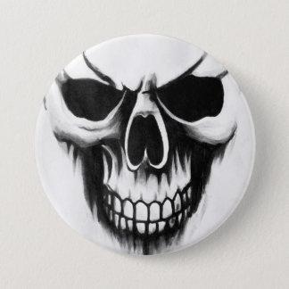 blanco de encargo del botón del cráneo del segador
