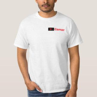 Blanco de la camiseta de Gamac con negro