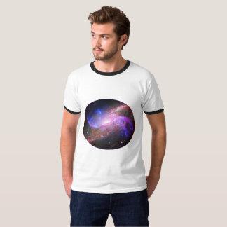 Blanco de la camiseta de la galaxia una