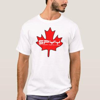 Blanco de la camiseta de la hoja de SPYY