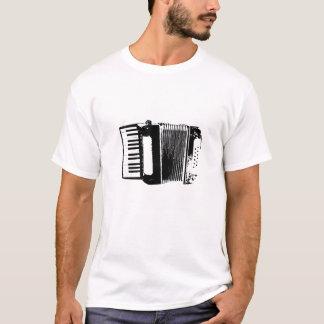 Blanco de la camiseta de la silueta del acordeón