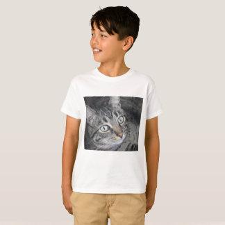 Blanco de la camiseta de los niños de la foto del