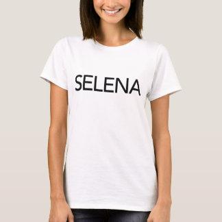 Blanco de la camiseta de Selena