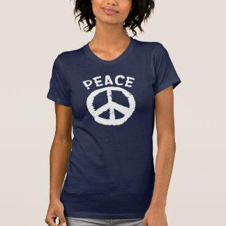 Blanco de la paz camisetas