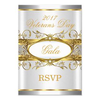 Blanco de la plata del oro de RSVP y fiesta de la Invitación 8,9 X 12,7 Cm