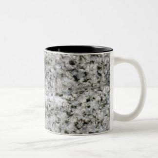 Blanco de la roca del granito taza dos tonos