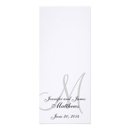 Blanco de lino del monograma del programa de la ig invitaciones personalizada