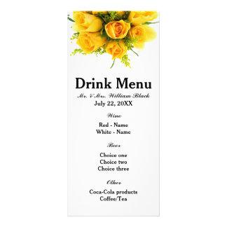 Blanco de los rosas amarillos - menú lonas personalizadas