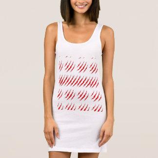 Blanco de vestido del tanque de las mujeres, rayas