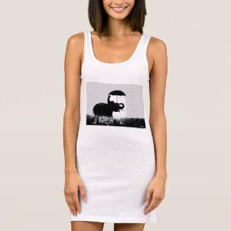 Blanco de vestido del tanque del jersey del arte