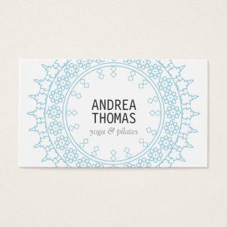 Blanco decorativo Cordón-Inspirado elegante/azul Tarjeta De Negocios
