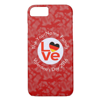 Blanco del AMOR del alemán o de Deutsch en rojo Funda iPhone 7