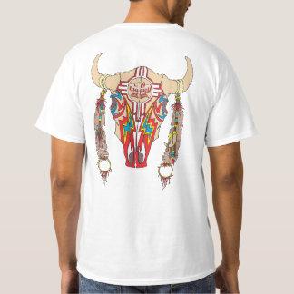 Blanco del bisonte de Apache del equipo Camiseta