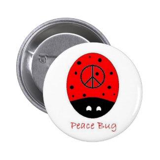 blanco del botón del insecto de la paz