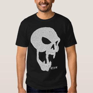 Blanco del cráneo del vampiro del casquillo camiseta