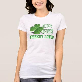 Blanco del día de St Patrick del amante del whisky Camiseta