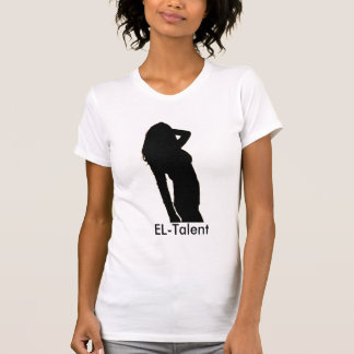Blanco del EL-Talento, cuello en v Camisetas