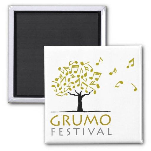 Blanco del imán del festival de Grumo