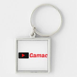 Blanco del llavero de Gamac con el logotipo rojo