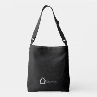 Blanco del logotipo de la administración de la bolso cruzado