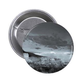 Blanco del negro de la tormenta de New México Chapa Redonda De 5 Cm