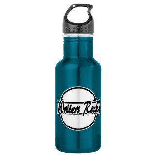 Blanco del negro del logotipo del círculo de la botella de agua