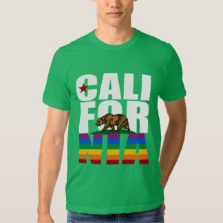 BLANCO DEL ORGULLO DE CALIFORNIA CAMISAS