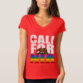 BLANCO DEL ORGULLO DE CALIFORNIA CAMISETA