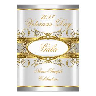 Blanco del oro y fiesta de plata de la placa del invitación 12,7 x 17,8 cm