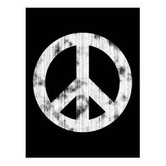 Blanco del signo de la paz apenado postal