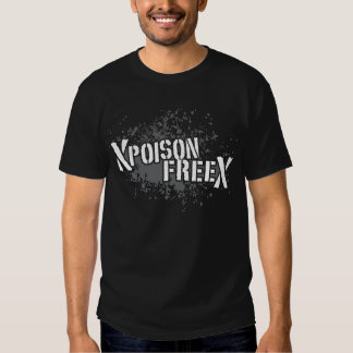 Blanco del veneno y gris libres camiseta