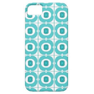 Blanco/diseño floral retro del trullo funda para iPhone SE/5/5s