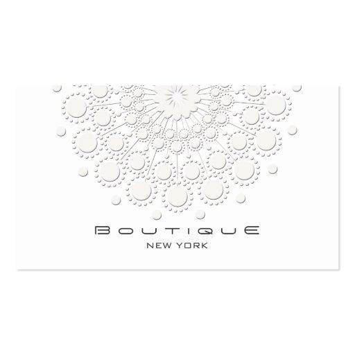 Blanco elegante del adorno del círculo tarjetas de negocios