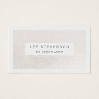 Blanco elegante en moderno elegante blanco trémulo tarjeta de visita