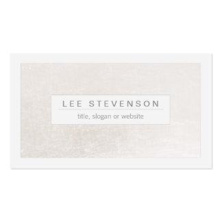Blanco elegante en moderno elegante blanco trémulo tarjetas de visita