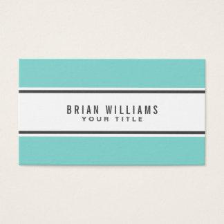 Blanco elegante moderno de la frontera azul de la tarjeta de negocios
