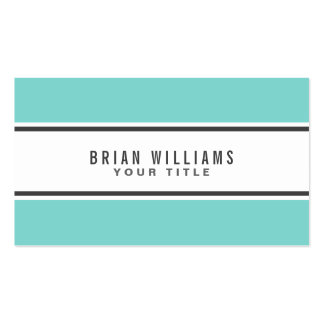 Blanco elegante moderno de la frontera azul de la tarjetas de visita