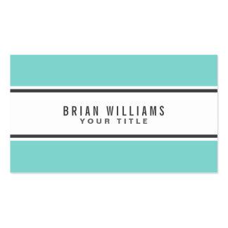 Blanco elegante moderno de la frontera azul de la  tarjeta de visita