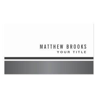 Blanco elegante moderno de la frontera gris de la tarjetas de visita