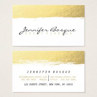 Blanco elegante y movimiento moderno del cepillo tarjeta de visita