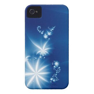 Blanco en azul iPhone 4 Case-Mate fundas
