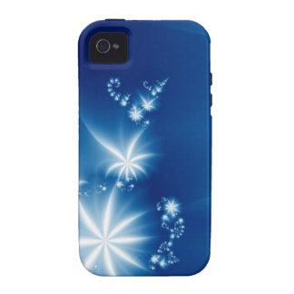 Blanco en azul vibe iPhone 4 fundas